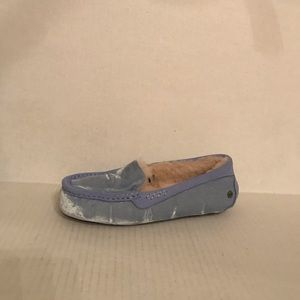UGG ANSLEY Velvet Driving Slipper Light Blue 8 New